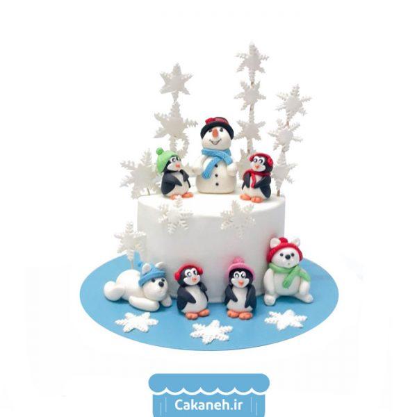 کیک تولد - کیک خانگی - کیک تولد زمستان - کیک تولد کودک - سفارش کیک تولد - کیک تولد در تهران